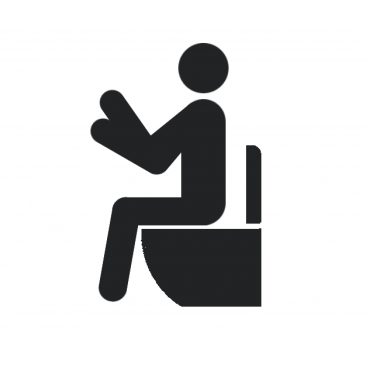 洋式トイレ (Sitting style toilet)
