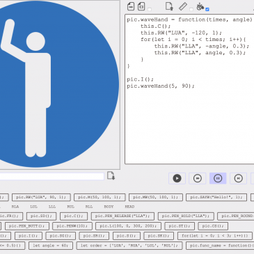 [JavaScpict] JavaScpict, JavaScript version of Pictogramming, has been released!